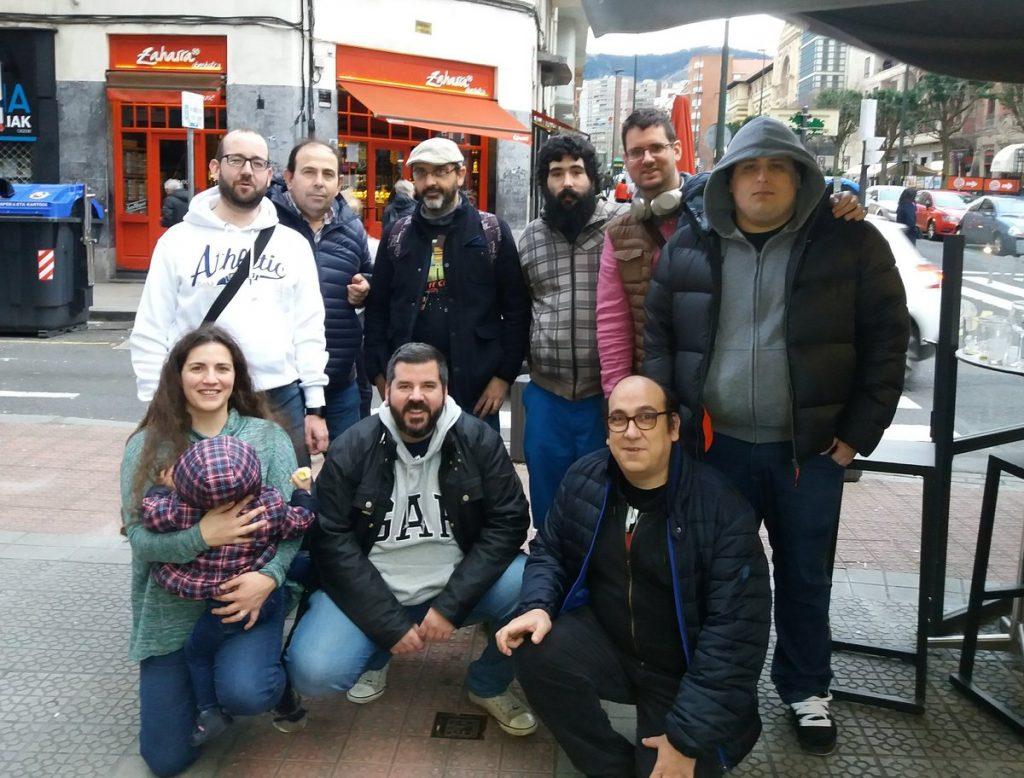 Foto de grupo de la podnight de Marzo en Bilbao
